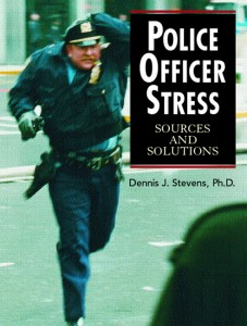 Normally police officer stress occurs when officers experience traumatic events while on patrol. Chief Purvis does not go on street patrol - presumably his stress occurred while sitting in his office
