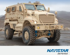 Navistar MRAP, shown here without gun turret - photo : Navistar