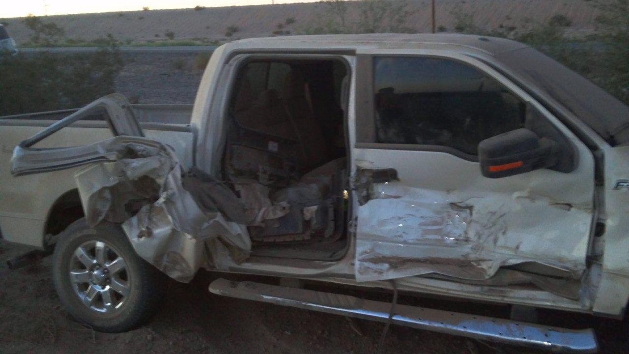 This accident could have easily resulted in fatalities : the damage to the pickup is at the rear seats, where children or infants are often seated. Why are the officers involved not placed on administrative leave ?
