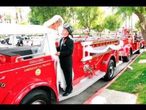A private wedding - with FMM fire trucks parked in a red zone