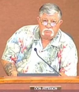 "Councilman Don Peterson, to Sun Lakes: ""pay or get shut off"""