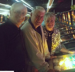 Smith (L)_ and Welch (R) playing pinball together